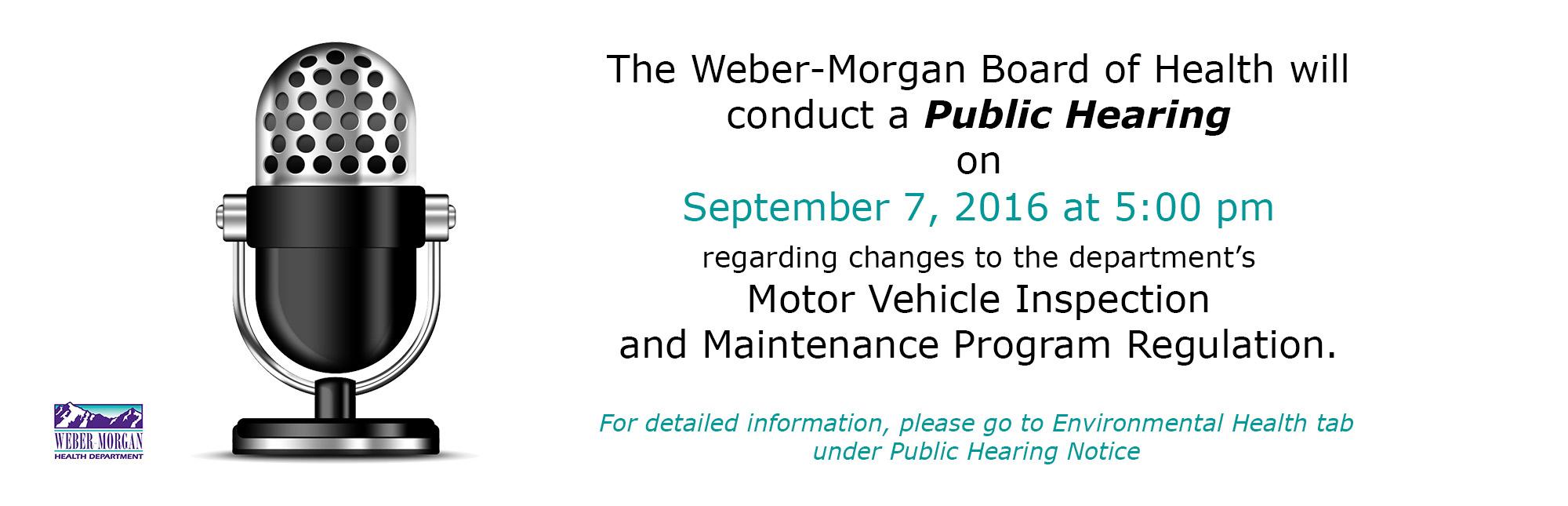 Public Hearing on Diesel Testing